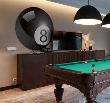 8 boll pool vägg klistermärke