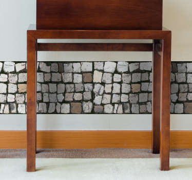 Add some cobblestones to your home with this fantastic wall border decal! Zero residue upon removal.