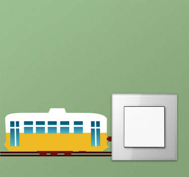 Naklejka na włącznik światła pociąg