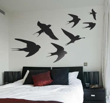 ¡Agregue algunos pájaros a la pared de su hogar con este fantástico vinilo para dormitorio! Cero residuo al retirarlo ¡Envío a domicilio!