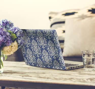 Naklejka na laptopa niebieski gobelin