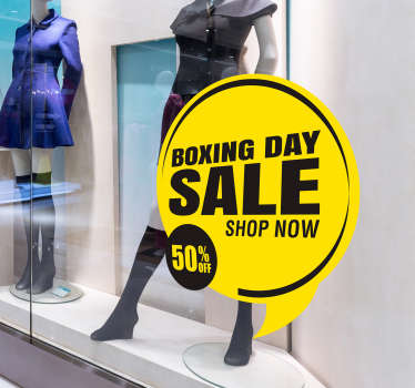 Boxing Day Sale Shop Sticker