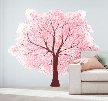 桜の壁のステッカー