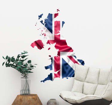 Flag Map of Britain Wall sticker