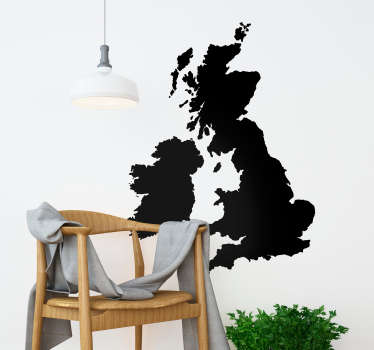 Add a UK map to your wall thanks to this fantastic monocolour wall sticker! Discounts available. Available in a variety of colours and sizes.