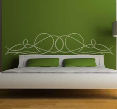 Lijnsticker Hoofdeinde Bed