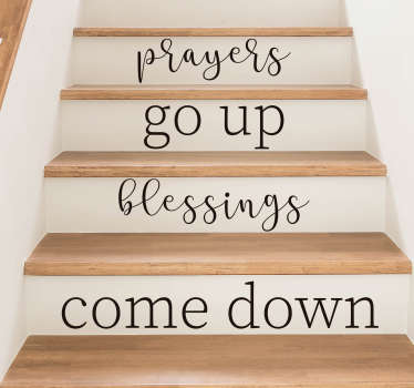 Decorate your stairs with this fantastic religious quote! +10,000 satisfied customers. Choose your size. High quality materials.