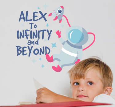 To Infinity and Beyond Customisable Wall Sticker