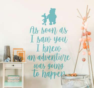 Winnie the Pooh Adventure Quote Wall Sticker