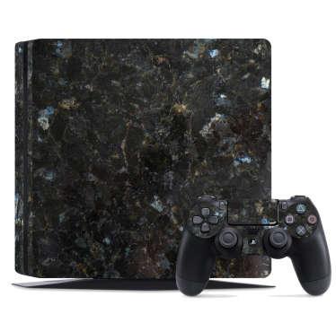 Naklejka na PS4 czarny marmur