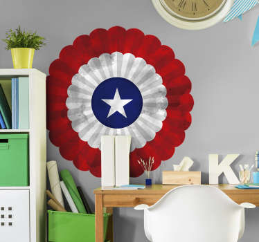 Cockade of Chile flag wall sticker for home and office space decoration. Easy to apply and available in any required size.