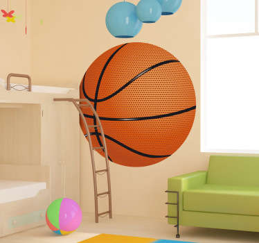 Kids Stickers - Add a sporty touch to any room with this basket ball design. Ideal for fans and sports-related organisations.
