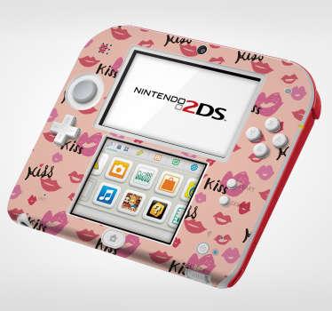 Nintendo sticker met lippen