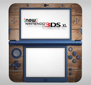 Wooden Texture Nintendo Skin Sticker