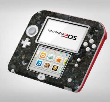 Sticker Texture Marbre Foncé pour Nintendo