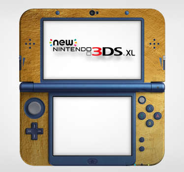 Add a touch of gold to your Nintendo with this fantastic golden Nintendo skin sticker! Personalised stickers.