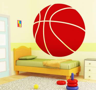 Autocolante decorativo bola de basquetebol