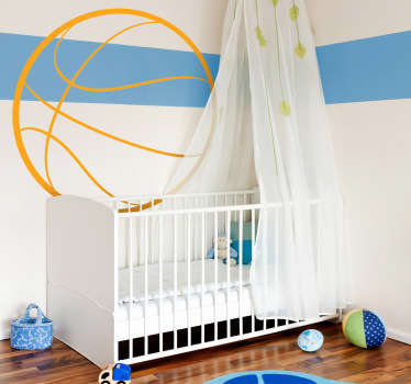 Basketbalová obrysová stěna dětská samolepka