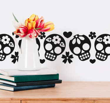 Un adorno cenefa decorativa para pared de calavera ornamental para la decoración del hogar ¡Disponible en diferentes opciones de color!