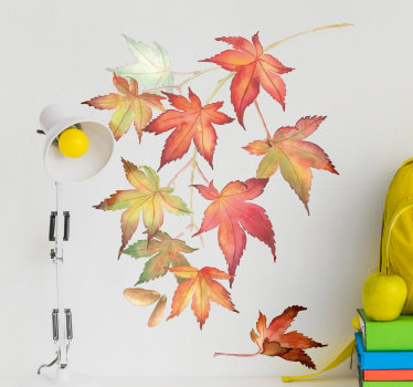 Japanese Maple Leaves Wall Sticker
