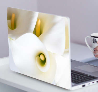 Add this beautiful set of lilies to your laptop thanks to this striking skin sticker! Easy to apply.