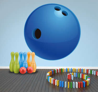 Sticker bowlingbal kinderen