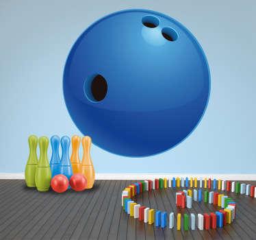 Sticker bowlingbal kinderen