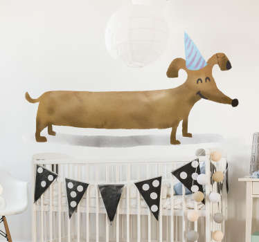 Sausage Dog Wall Art Sticker