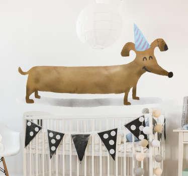 Autocolantes para casa desenho com cão
