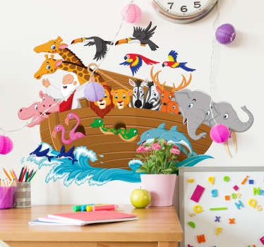Add some of Noah´s animals to your home with this fantastic wall art decal! Anti-bubble vinyl.