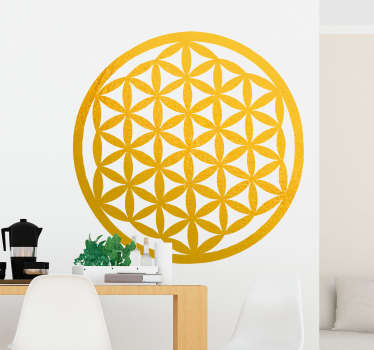 Choose the features that best suit your needs and with this vinyl wall sticker you can decorate your surfaces with a flower of abstract life.