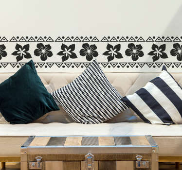 Bring the Aloha to you with this fantastic Hawaiian themed wall border sticker! Anti-bubble vinyl.