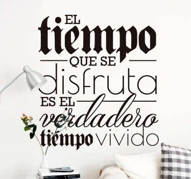 Vinilo pared Frase bonita de la vida