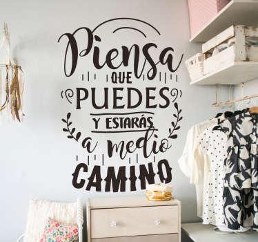 Vinilo pared Frase bonita sobre la vida