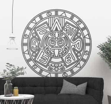 Vinilo pared Calendario maya