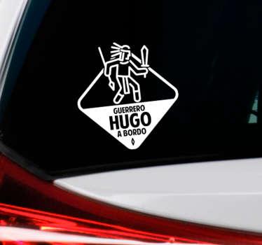 Vinilo de coche Guerrero azteca personalizable