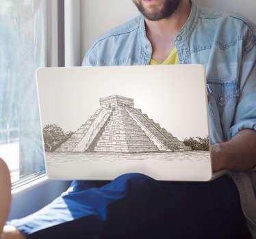 Vinilo para portátiles pirámide Chichen Itza