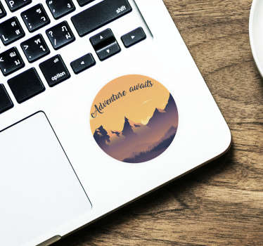 Laptop sticker cirkel adventure awaits