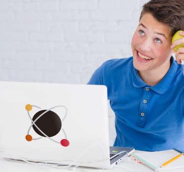 Naklejka na laptopa atom