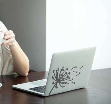 Laptop sticker paardebloem