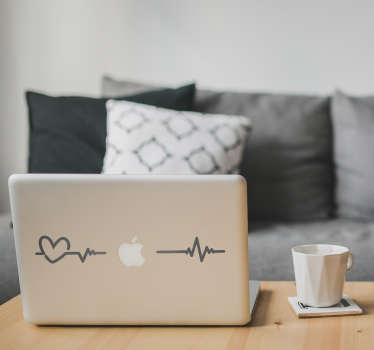 Transform your Macbook into a cardiogram with this superb laptop decal! Easy to apply.