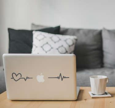 Laptop sticker elektrocardiogram