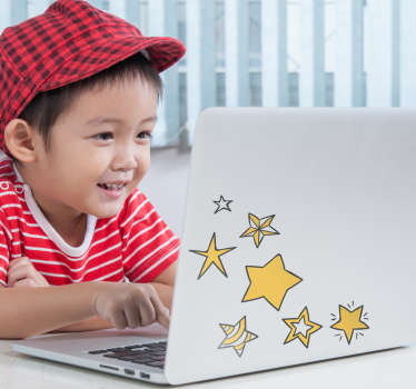 Make sure that you always have stars in your eyes with this superb laptop sticker! Personalised stickers.