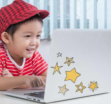 Olika stjärnor laptop sticker