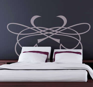A decorative decal for your headboard in your bedroom! A modern design which can be customised in colour and size by you!
