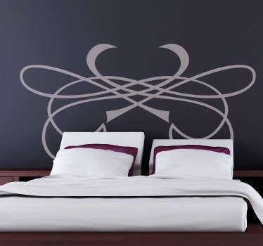 Vinil decorativo ornamento cabeceira cama