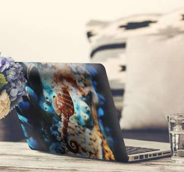 海洋の背景ノートパソコンのステッカー