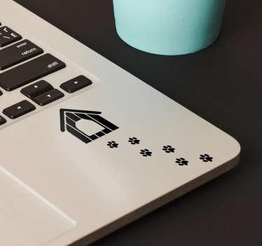 脚印狗笔记本电脑贴纸