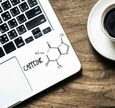 стикер молекулы кофеина ноутбук