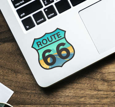 Wandtattoo Reise Route 66 Laptop